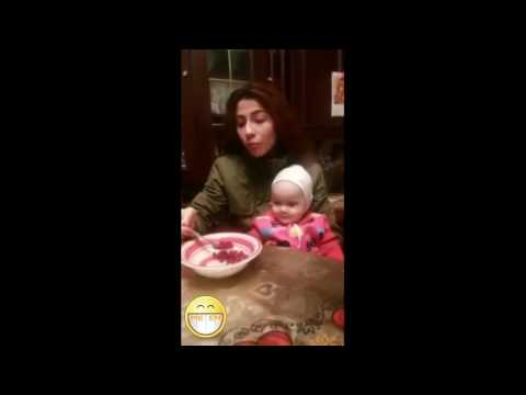 Cute baby trying to eat – Mother doesn't feed her baby